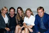 Vanessa Bruno Emmanuel Perottin with his partner Lorena Vergani Elisabeth von Guttman and her partner Matt Shelton attend 'Le Bal Jaune 2015' Dinner...