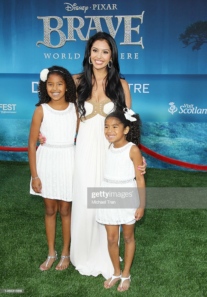Vanessa Bryant and her daughters arrive at 2012 Los Angeles Film Festival 'Brave' premiere held at Dolby Theatre on June 18 2012 in Hollywood...