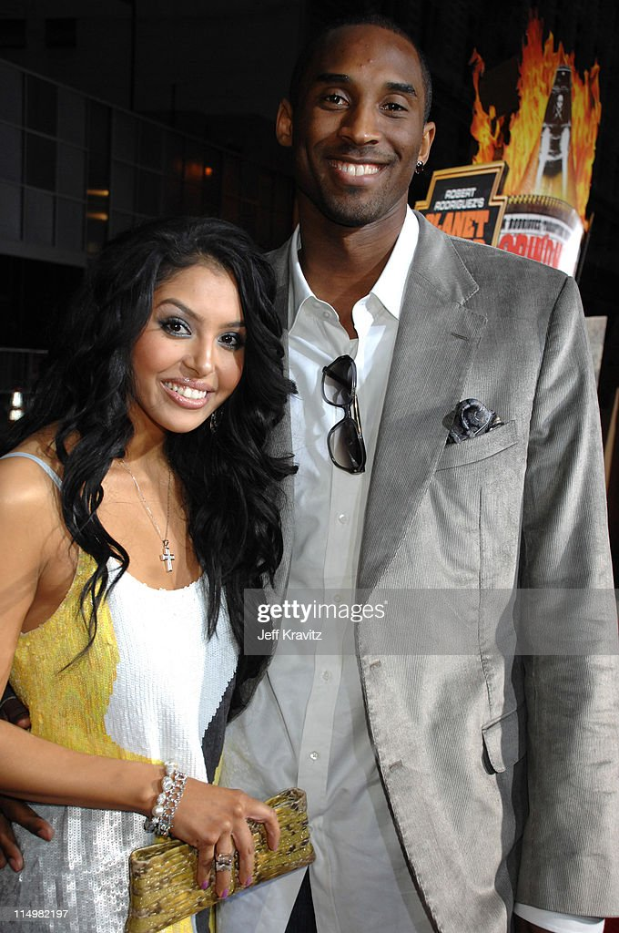 Vanessa Bryant and Kobe Bryant during 'Grindhouse' Los Angeles Premiere Red Carpet at Orpheum Theatre in Los Angeles California United States