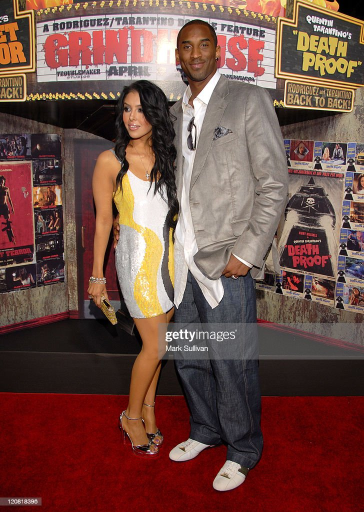 Vanessa Bryant and Kobe Bryant during 'Grindhouse' Los Angeles Premiere Arrivals at The Orpheum Theatre in Los Angeles California United States