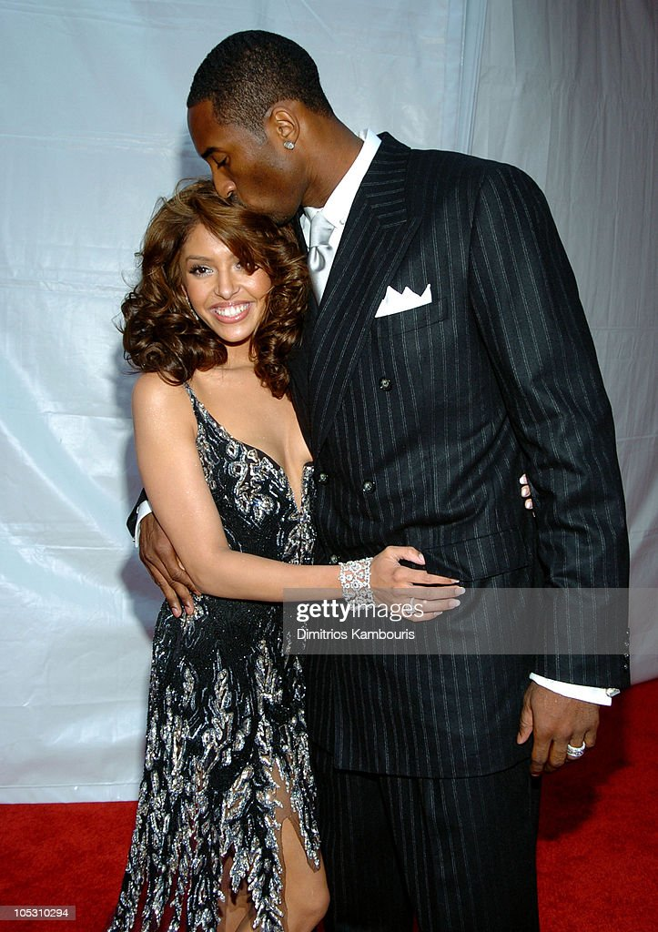 Vanessa Bryant and Kobe Bryant during MTV Movie Awards 2004 Red Carpet at Sony Pictures Studios in Culver City California United States