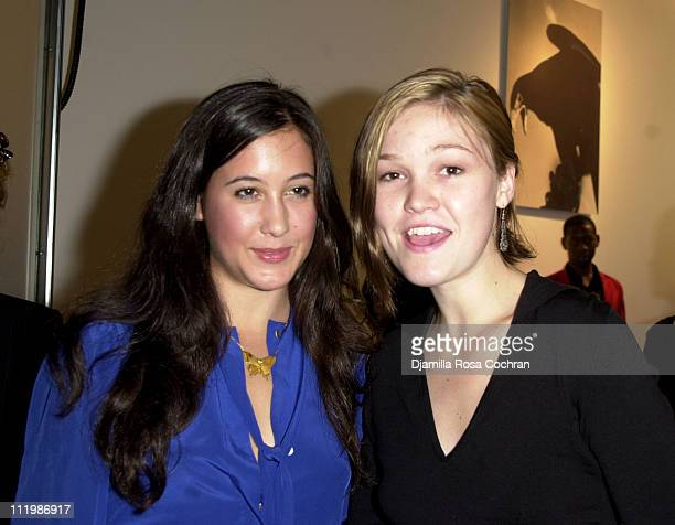 Vanessa Carlton and Julia Stiles during Interview and Adidas Host a Party for Lou Reed's Photo Book at Cooper Classics Collection in New York City...