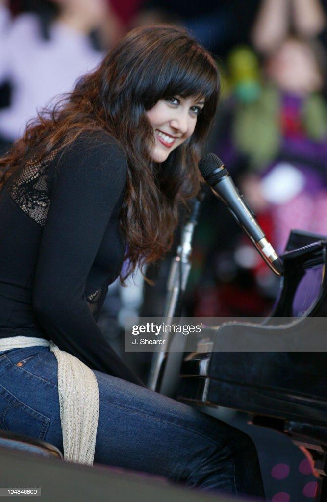 Vanessa Carlton performs at the 16th Annual Bridge School Benefit Concert.