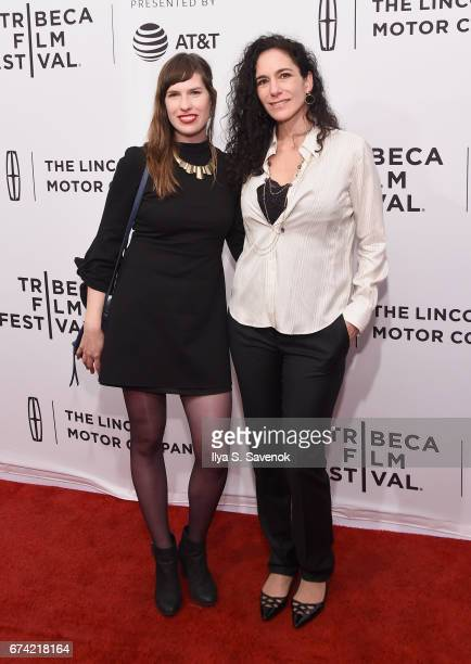 Vanessa Carr and Lise Balk King attend the 'Warning This Drug May Kill You' Premiere during the 2017 Tribeca Film Festival at SVA Theater on April 27...
