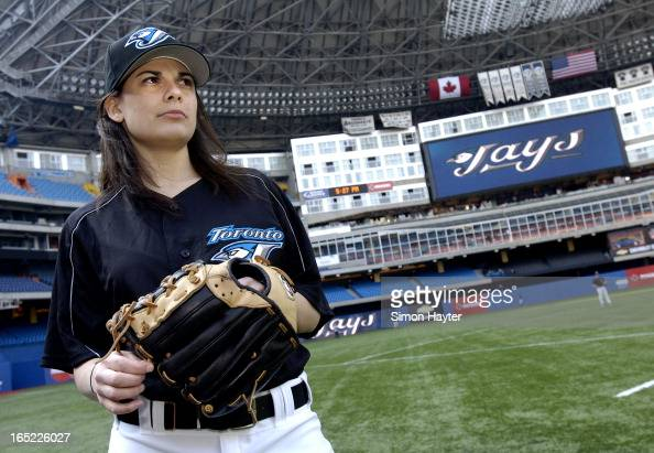 Role as batgirl with the blue jays before a game against the chicago