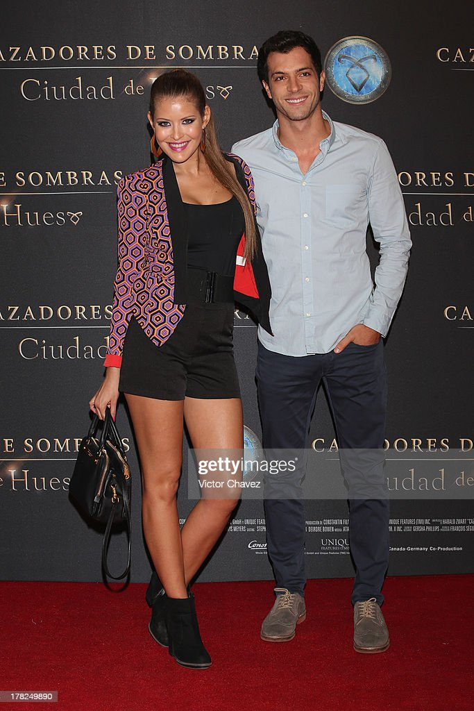 Vanessa Claudio and guest attend The Mortal Instruments: City of Bones' Mexico City screening at Auditorio Nacional on August 27, 2013 in Mexico City, Mexico.