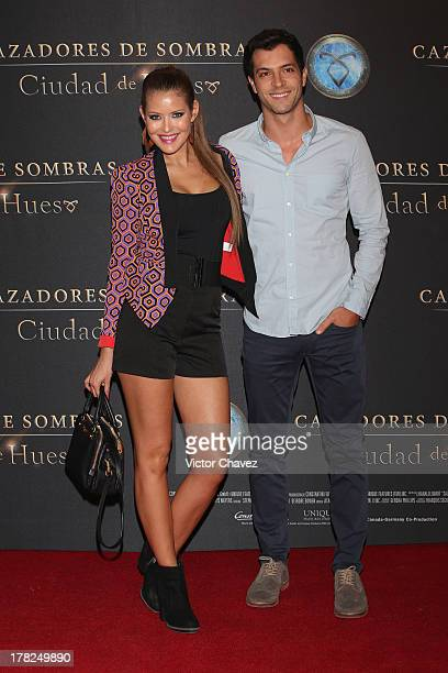 Vanessa Claudio and guest attend The Mortal Instruments City of Bones' Mexico City screening at Auditorio Nacional on August 27 2013 in Mexico City...