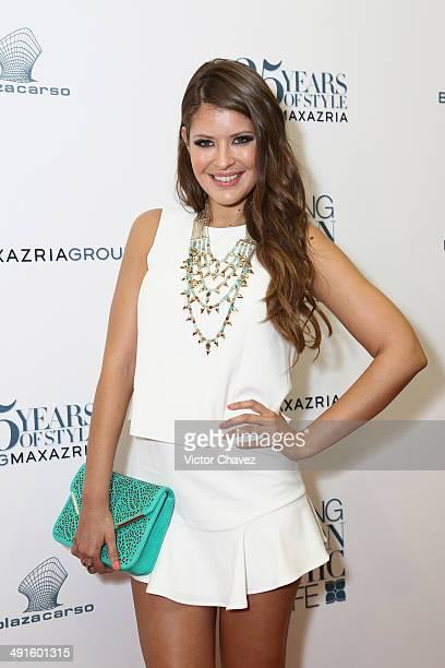 Vanessa Claudio attends the BCBG Max Azria 25th anniversary at Plaza Carso on May 16 2014 in Mexico City Mexico