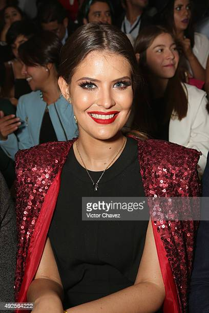 Vanessa Claudio attends the first day of MercedesBenz Fashion Week Mexico Spring/Summer 2016 at Campo Marte on October 13 2015 in Mexico City Mexico