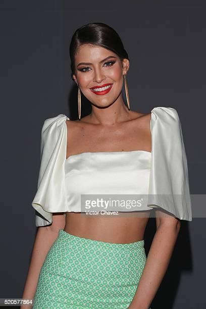 Vanessa Claudio attends the first day of MercedesBenz Fashion Week Mexico Autumn/Winter 2016 at Colegio De Las Vizcainas on April 11 2016 in Mexico...