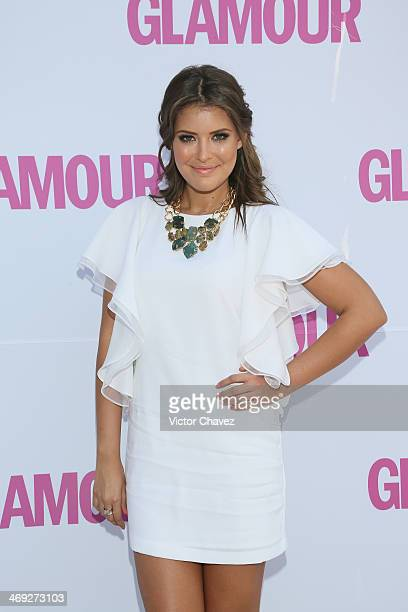 Vanessa Claudio attends the Glamour Magazine México Beauty Awards 2013 at Museo Rufino Tamayo on February 13 2014 in Mexico City Mexico
