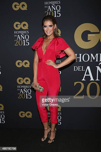 Vanessa Claudio attends the GQ Mexico Men of The Year 2015 awards at Live Aqua Bosques hotel on November 4 2015 in Mexico City Mexico