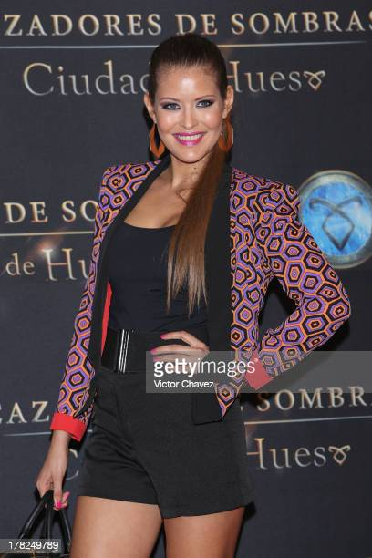 Vanessa Claudio attends The Mortal Instruments City of Bones' Mexico City screening at Auditorio Nacional on August 27 2013 in Mexico City Mexico