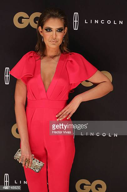 Vanessa Claudio poses during the red carpet of GQ Mexico Men of The Year 2015 Awards at Live Aqua on November 04 2015 in Mexico City Mexico