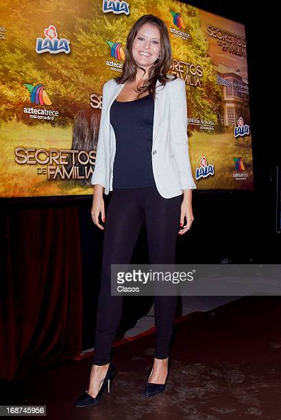 """Vanessa Claudio poses for a Photo during the presentation of the new serie """"Secretos de Familia"""" on May 13 2013 in Mexico City Mexico"""