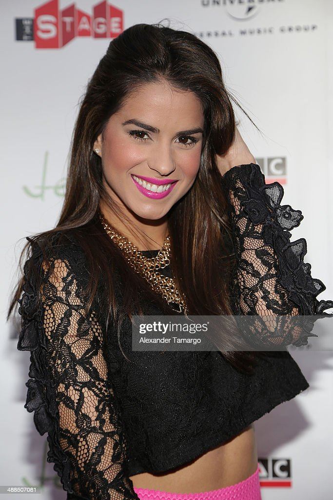 Vanessa De Roide arrives at the Jencarlos Canela private concert to present his new album 'Jen' at The Stage on May 6, 2014 in Miami, Florida.