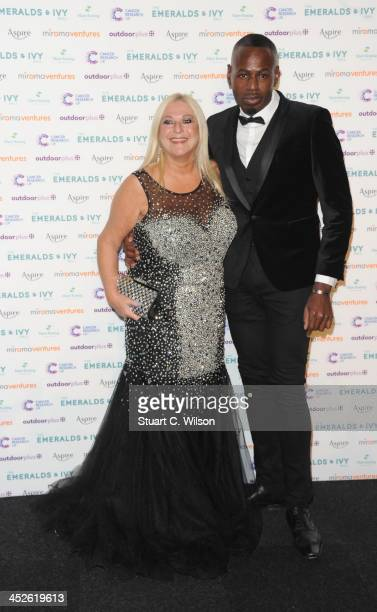 Vanessa Feltz and Ben Ofoedo attend The Emeralds And Ivy Ball at Old Billingsgate Market on November 30 2013 in London England
