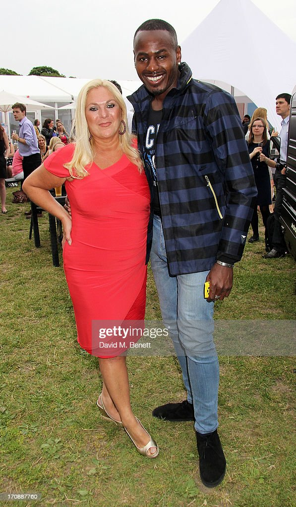 Vanessa Feltz (L) and Ben Ofoedu attend the VIP Preview for 'Taste of London' at Regent's Park on June 19, 2013 in London, England.