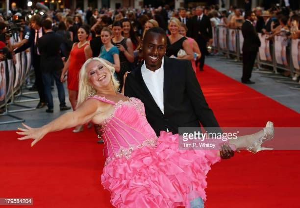 Vanessa Feltz and Ben Ofoedu attend the World Premiere of 'Diana' at Odeon Leicester Square on September 5 2013 in London England