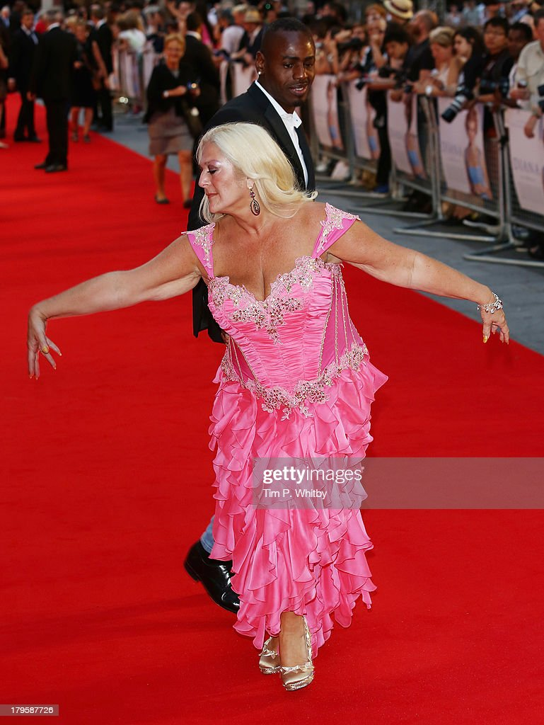 Vanessa Feltz and Ben Ofoedu attend the World Premiere of 'Diana' at Odeon Leicester Square on September 5, 2013 in London, England.