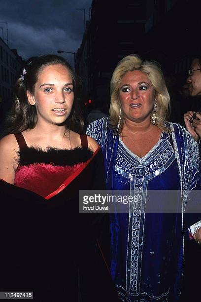 Vanessa Feltz and daugher during Peter Pan London premiere 1st October 1995 at London in London United Kingdom
