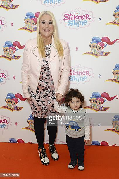 Vanessa Feltz and grandson Zeke attend the UK premiere of the new Nick Jr series Shimmer and Shine launching on Monday 9th November at 430pm on...