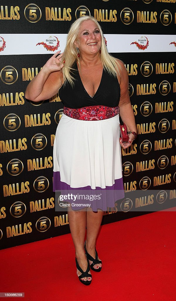 Vanessa Feltz arrives at the launch party for the new Channel 5 television series of 'Dallas' at Old Billingsgate on August 21 2012 in London England
