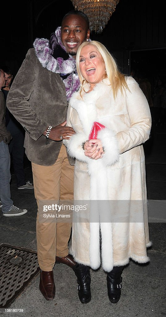 Vanessa Feltz (R) attends the Celebrity Big Brother 2012 reunion party at Sugar Hut on February 3, 2012 in London, England.