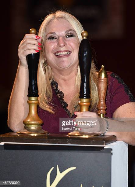 Vanessa Feltz attends the Centrepoint Ultimate Pub Quiz at Village Underground on February 3 2015 in London England