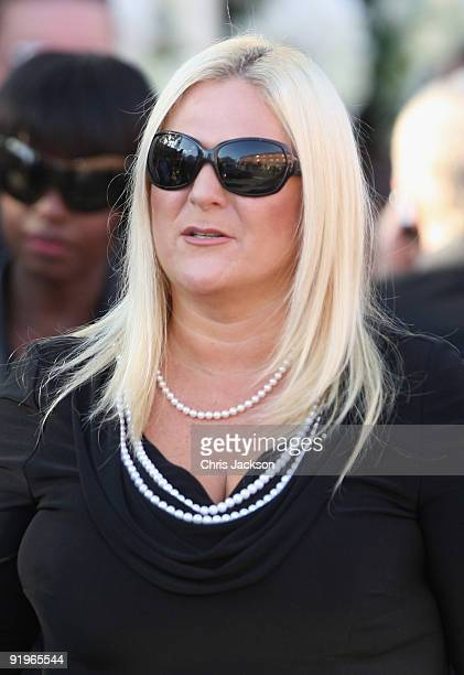 Vanessa Feltz attends the funeral of Boyzone singer Stephen Gately at St Laurence O'Toole Church on October 17 2009 in Dublin Ireland The Irish...