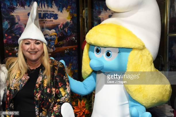 Vanessa Feltz attends the Gala Screening of 'Smurfs The Lost Village' at Cineworld Leicester Square on March 19 2017 in London England