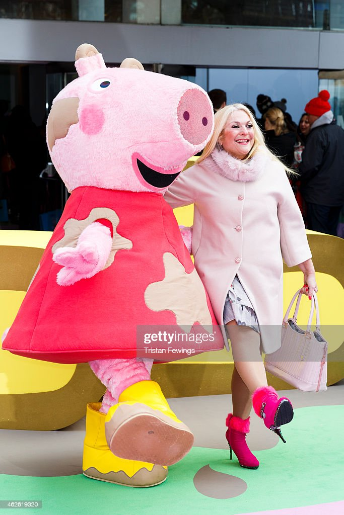 Vanessa Feltz attends the premeire of 'Peppa Pig: The Golden Boots' at Odeon Leicester Square on February 1, 2015 in London, England.