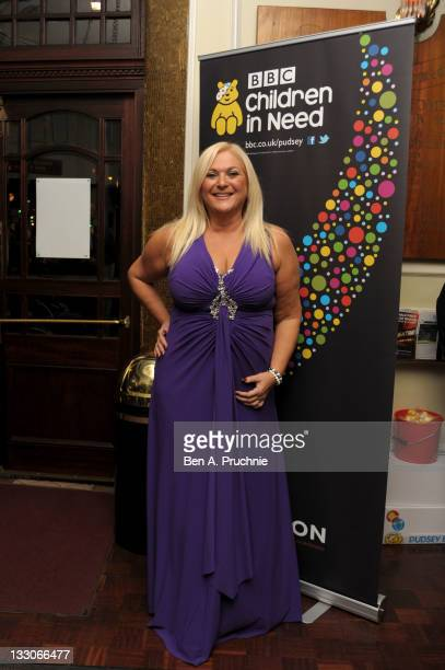 Vanessa Feltz attends The Rock of Ages fundraising performance in aid of Children in Need at the Shaftesbury Theatre on November 16 2011 in London...