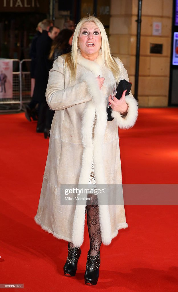Vanessa Feltz attends the UK Premiere of 'I Give It A Year' at Vue West End on January 24, 2013 in London, England.