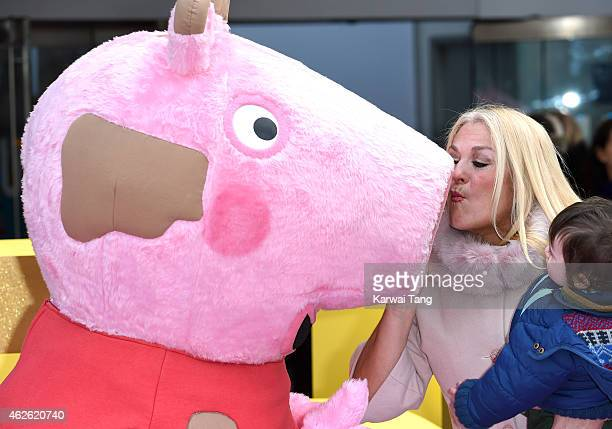 Vanessa Feltz attends the UK premiere of 'Peppa Pig The Golden Boots' at Odeon Leicester Square on February 1 2015 in London England