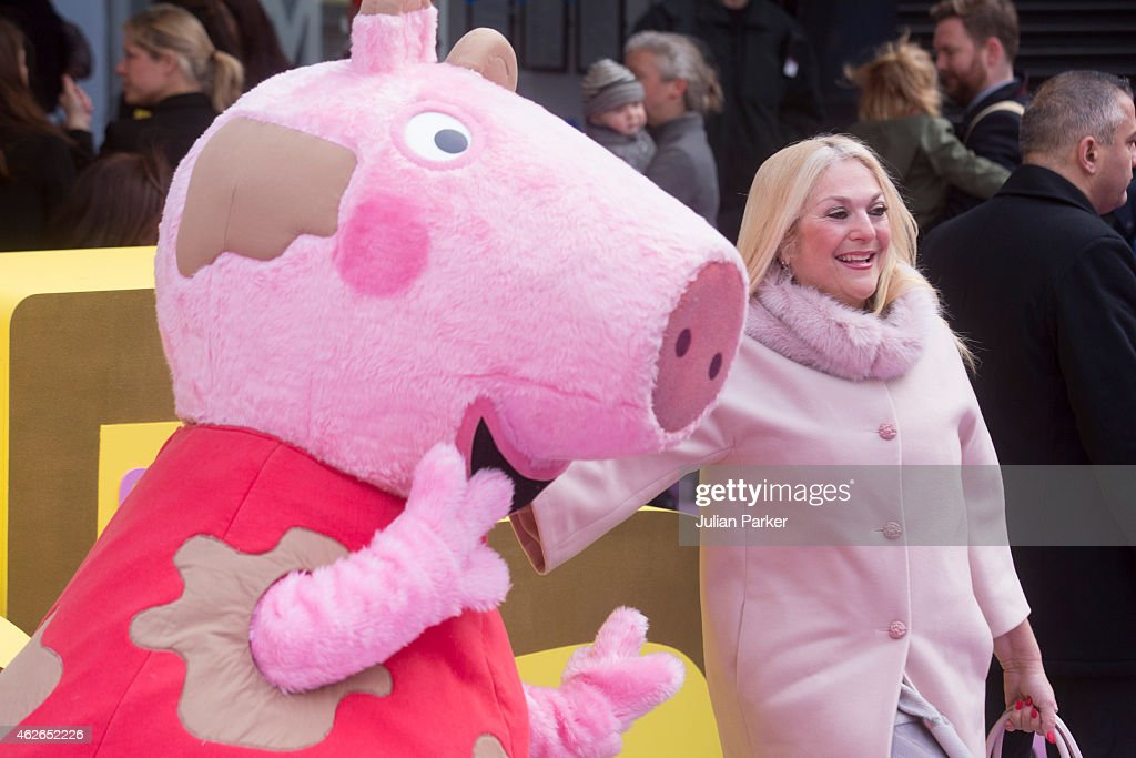 Vanessa Feltz attends the UK premiere of 'Peppa Pig: The Golden Boots' at Odeon Leicester Square, on February 1, 2015 in London, England.
