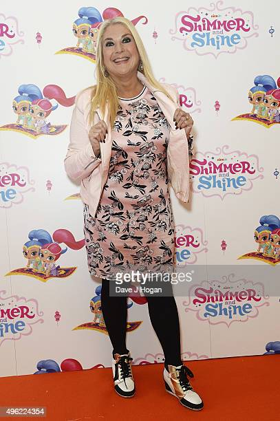 Vanessa Feltz attends the UK premiere of the new Nick Jr series Shimmer and Shine launching on Monday 9th November at 430pm on November 8 2015 in...