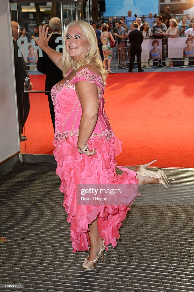 Vanessa Feltz attends the world premiere of 'Diana' at The Odeon Leicester Square on September 5, 2013 in London, England.