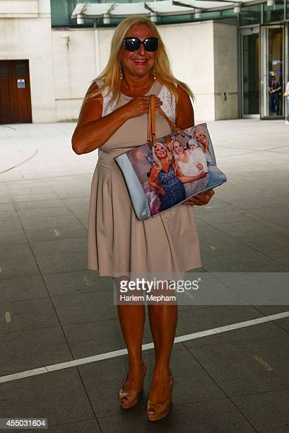 Vanessa Feltz sighted outside BBC Broadcasting House on September 9 2014 in London England