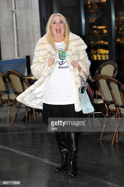 Vanessa Feltz sighting at the BBC on February 5 2015 in London England