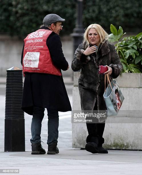 Vanessa Feltz sighting on February 27 2015 in London England
