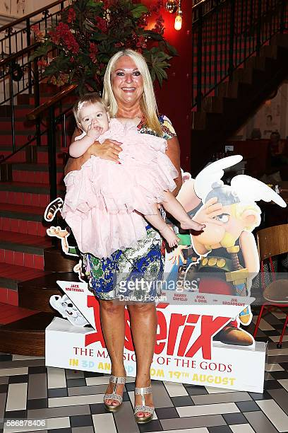 Vanessa Feltz with granddaughter Neroli attends the gala screening of 'Asterix The Mansions of the Gods' at Picturehouse Central on August 7 2016 in...