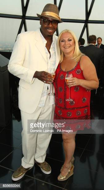 Vanessa Feltz with her partner Ben Ofoedu at the Richard BalfourLynn's AHG AND MWB Group and Variety Club Children's Charity Party held at the top of...