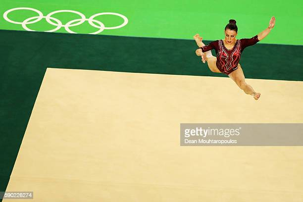 Vanessa Ferrari of Italy competes on the Women's Floor final on Day 11 of the Rio 2016 Olympic Games at the Rio Olympic Arena on August 16 2016 in...