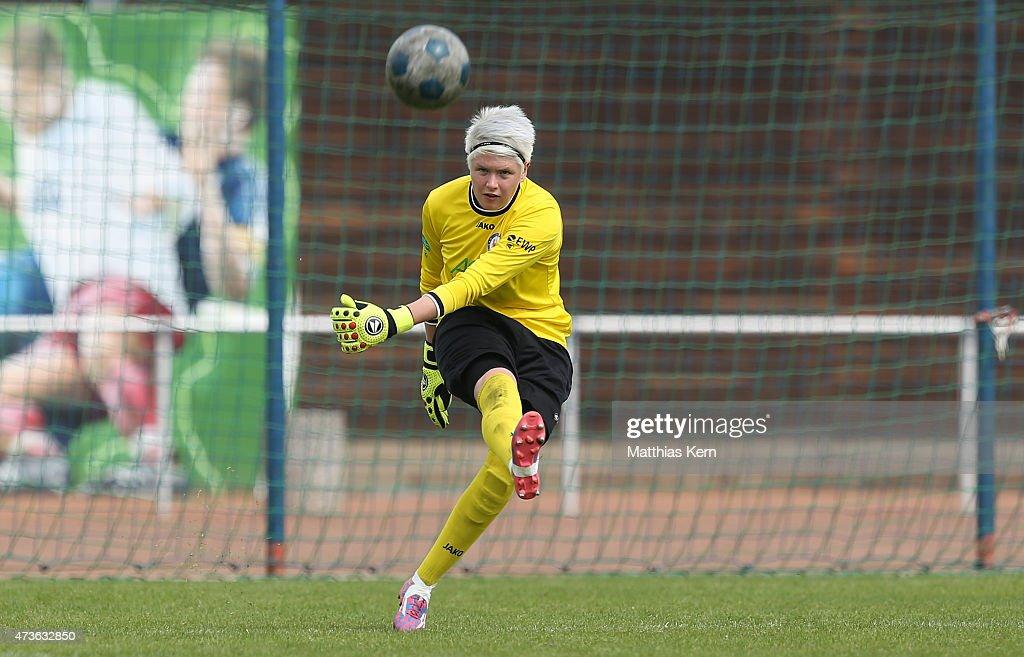 Vanessa Fischer of Potsdam runs with the ball during the U17 Girl's Bundesliga semi final first leg match between Turbine Potsdam and FSV Guetersloh...