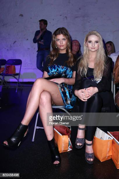 Vanessa Fuchs and Anna Hiltrop attend the Breuninger show during Platform Fashion July 2017 at Areal Boehler on July 21 2017 in Duesseldorf Germany