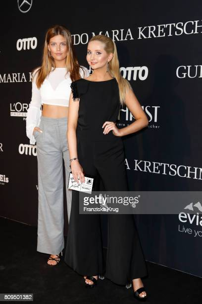 Vanessa Fuchs and Anna Hiltrop attend the Guido Maria Kretschmer Fashion Show Autumn/Winter 2017 presented by OTTO at Tempodrom on July 5 2017 in...