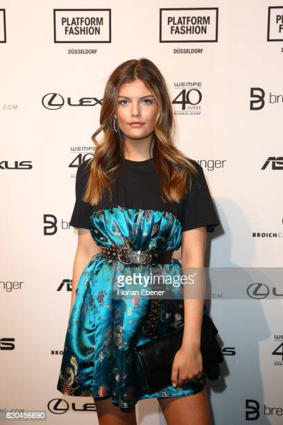 Vanessa Fuchs attends the Breuninger show during Platform Fashion July 2017 at Areal Boehler on July 21 2017 in Duesseldorf Germany