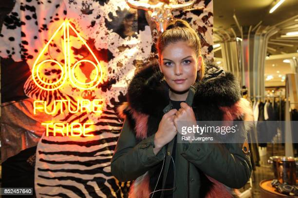Vanessa Fuchs poses during the store event 'Moose Knuckles at Breuninger The Future Tribe Party' on September 23 2017 in Duesseldorf Germany