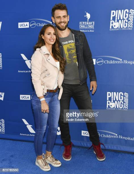Vanessa Grimaldi and Nick Viall attend the 5th Annual Ping Pong 4 Purpose on July 27 2017 in Los Angeles California